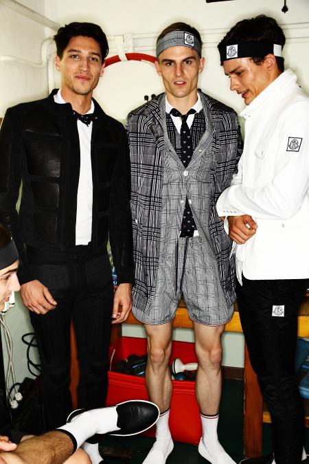 Moncler Gamme Bleu Men's SS 12 Fashion Show Milan Backstage