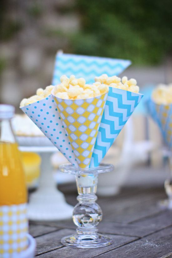 PRINTABLE Popcorn Cones  Pool Party by ABlissfulNestShop on Etsy, $5.00