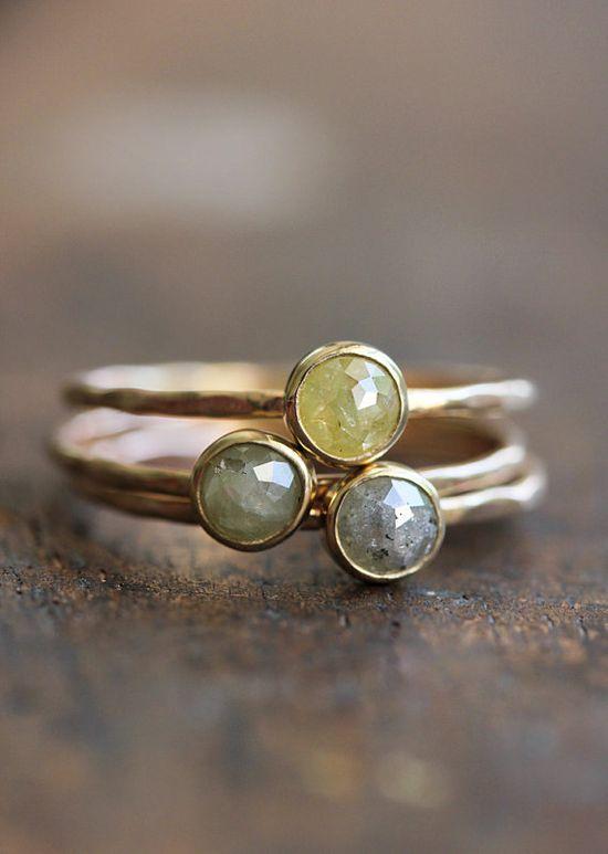 Rose cut diamond and 14k gold ring by BelindaSaville, $195.00