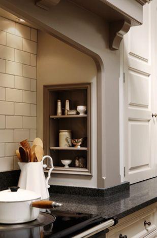 Shelf at cooktop