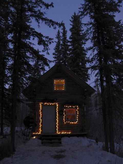 Christmas lights in Alaska