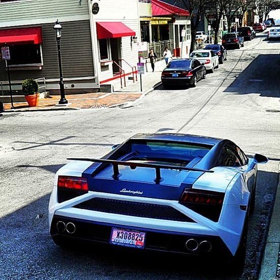 2013 #Lamborghini Gallardo driving downtown