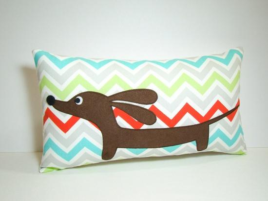 dauchshund pillows