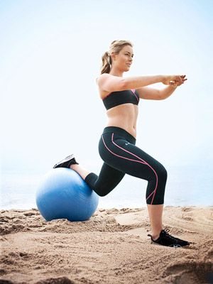 Lunges with ball
