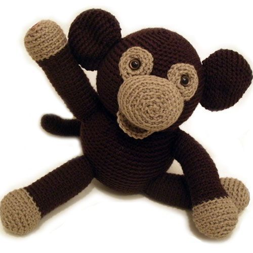 monkey Stuffed Animal Crochet Pattern.
