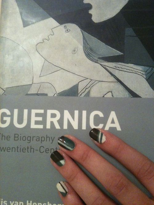 Guernica book cover nail art