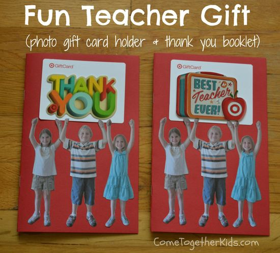 Come Together Kids: Photo Gift Card Holder and Thank you booklet ( for teachers or any gift card giving occasion!)