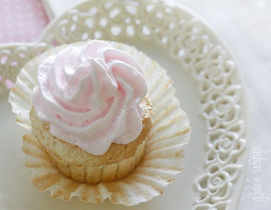 Sweet Light Angel Food Cupcakes with Meringue Icing - this is the sweetest, lightest, most airy angel food cupcake you have ever tasted!