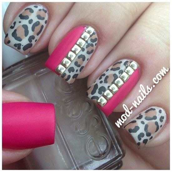 Cheetah nails / laval nails / ongles laval/ nails art / nails design   www.ongleslaval.com