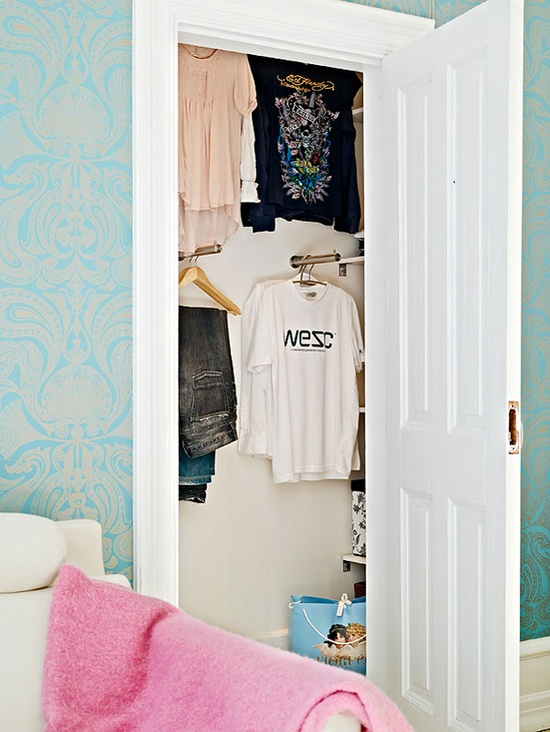 why have I never thought to hang my clothes like this in a closet? so cool.