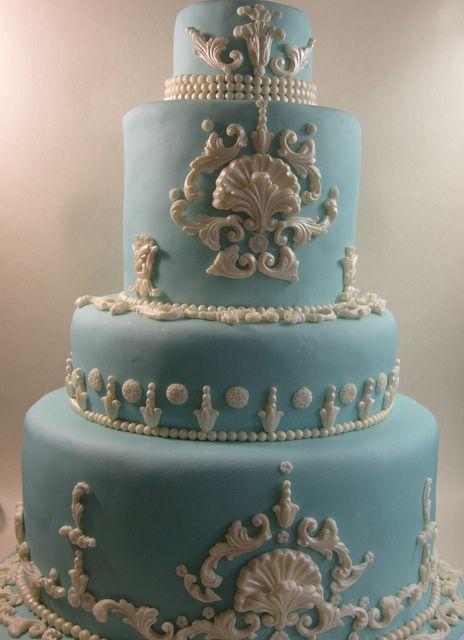 Blue Wedgwood Classical Cake by elizabethscakeemporium, via Flickr