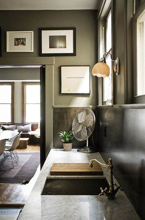 Urban Chic Kitchen. Love the deep rich Colors!