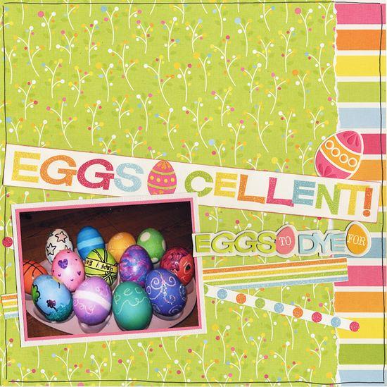 EggsCellent! - Scrapbook.com - #scrapbooking #layouts