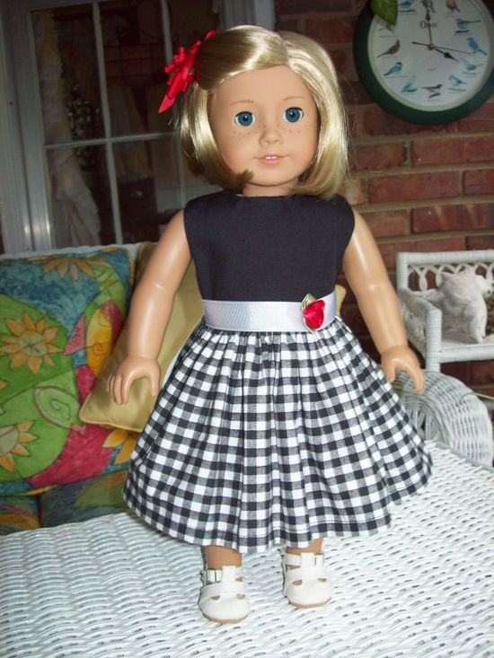 American Girl Doll Dress or 18 inch doll dress and by ASewSewShop