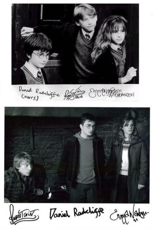 Actor's signatures - they sorta stayed the same