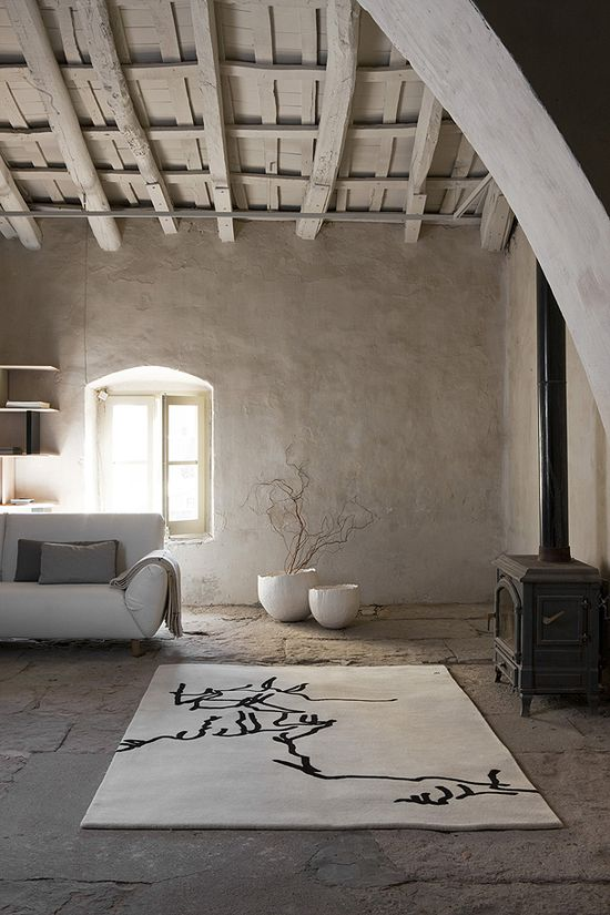 contrast between the rustic and the modern