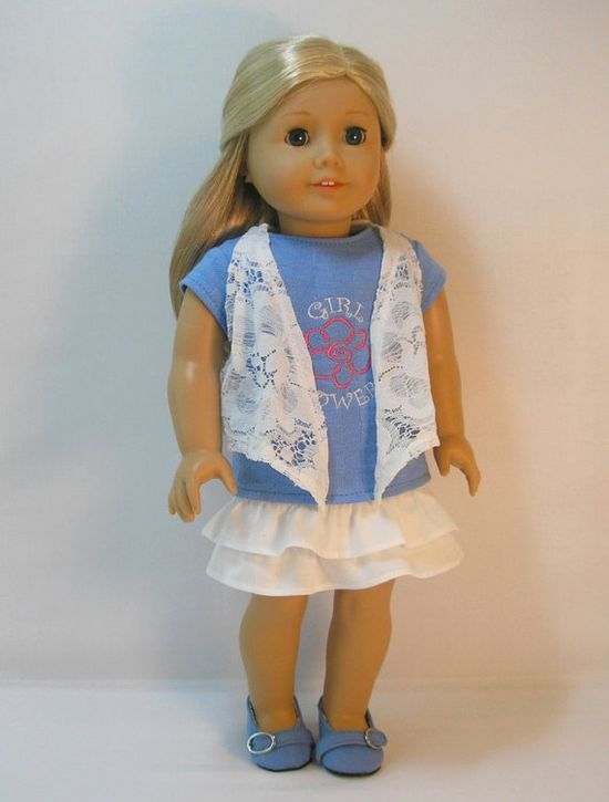 American Girl Doll Clothing, 18 Inch Doll Clothes Girl Power Outfit