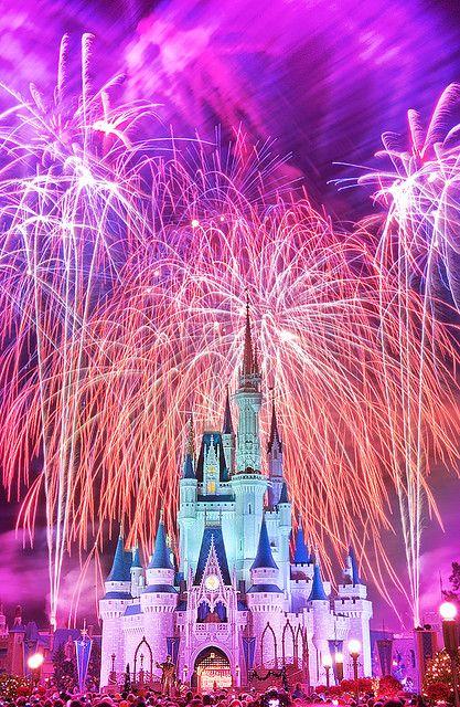 Disney Castle & Fireworks!! Amazing Picture