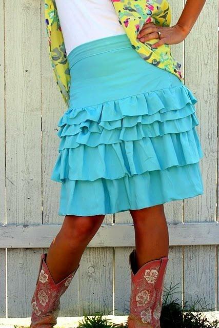 Ruffled skirt.