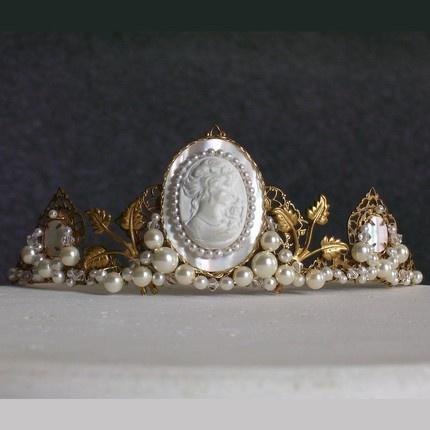 pearly, cameo tiara