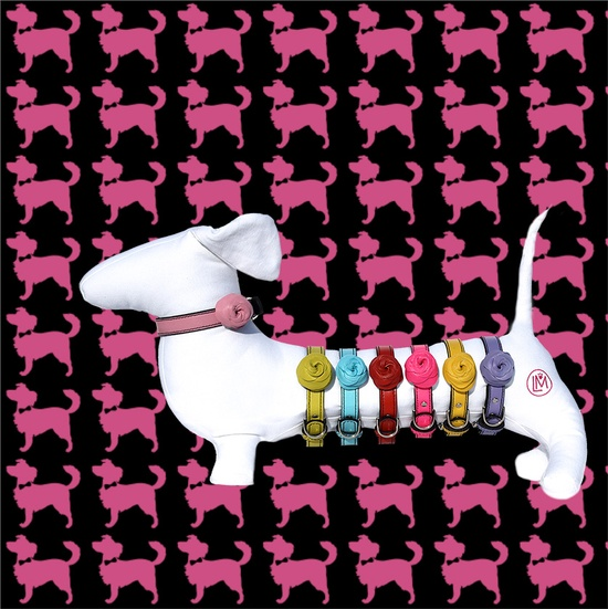 The NEW LuxeMutt Mod-Rose dog collars