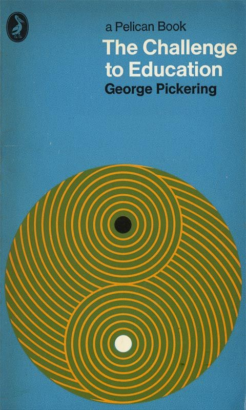 The Challenge of Education, Pelican Book Cover #bookcover #pelicanbooks #circles #thechallengeofeducation