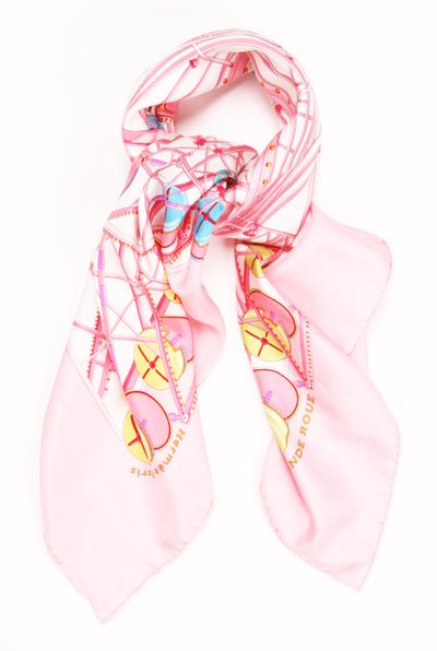 Hermes Scarf or Headwrap in Pink