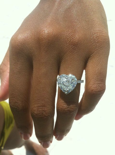 Beautiful heart shaped diamond ring