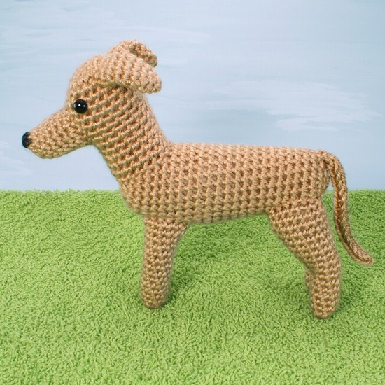 AmiDogs Greyhound (or Whippet) amigurumi PDF CROCHET PATTERN $5.25