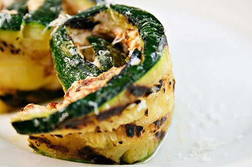 Grilled Zucchini Rollatini with Sun-Dried Tomatoes and Goat Cheese by ezrapoundcake #Zucchini #Goat_Cheese #ezrapoundcake