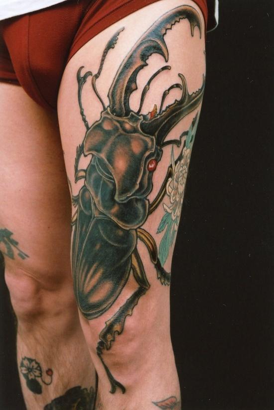 Genko & En Tattoo in Japan #inked #ink #tattoo #tattoos #tats #inkedmag #inkedmagazine #beetle