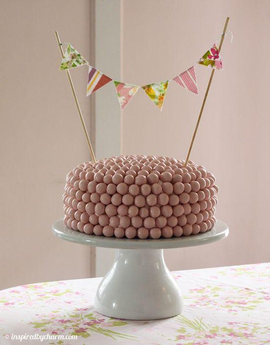 Strawberry Malt Ball Cake