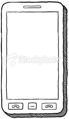 Smart phone Royalty Free Stock Vector Art Illustration
