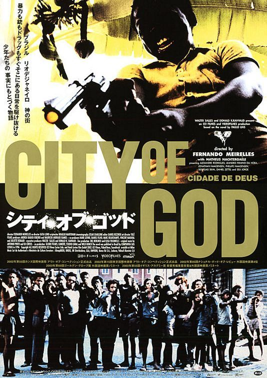 City of God , starring Alexandre Rodrigues, Matheus Nachtergaele, Leandro Firmino, Phellipe Haagensen. Two boys growing up in a violent neighborhood of Rio de Janeiro take different paths: one becomes a photographer, the other a drug dealer. #Crime #Drama