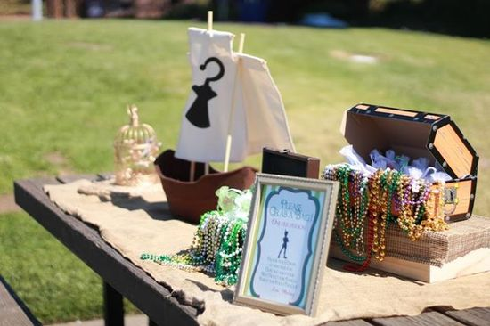 Cute favor table at a Peter Pan Party with Lots of Really Fun Ideas via Kara's Party Ideas