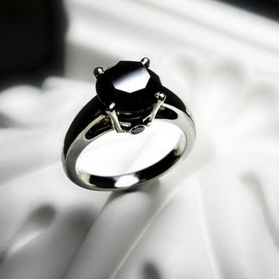black diamond ring for women