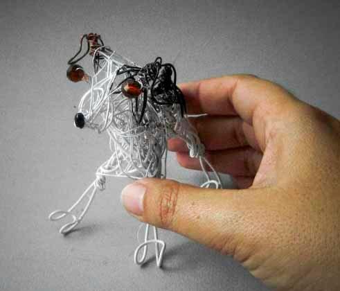 Jack Russell Terrier Pet Portrait Sculpture. $20.00, via Etsy.