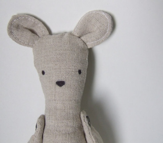 Nudie Mouse (Clothing-Free and Ready to Ship). $30.00, via Etsy.