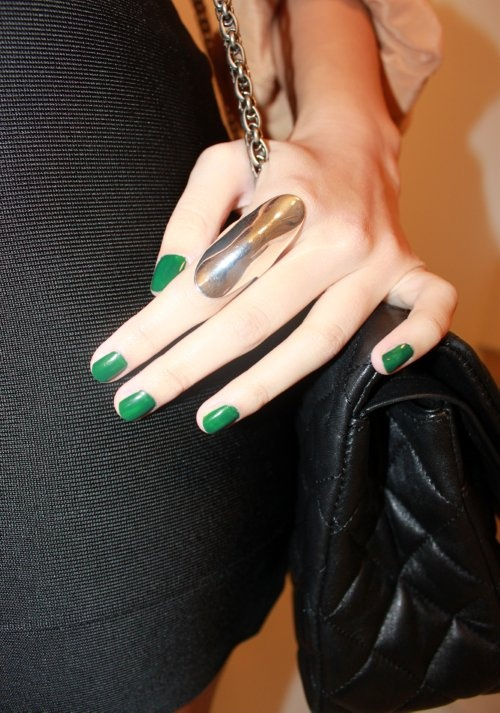 emerald green nail polish. pantone's color of the year 2013-LOVE LOVE LOVE