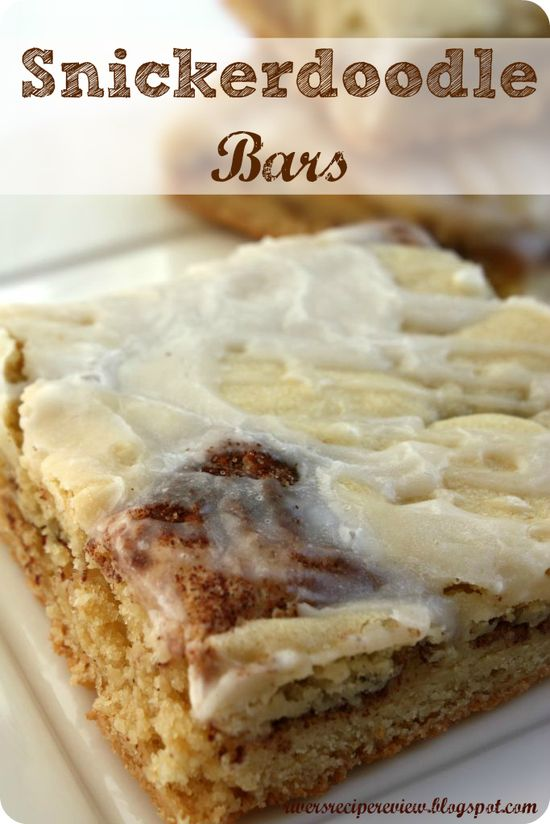 Snickerdoodle Bars @Abigail Phillips Regan Truax:/...  If you LOVE snickerdoodles then you will LOVE these!!  A delicious snickerdoodle in a bar!
