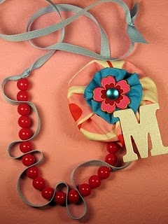 These necklaces would be cute for girls to make at a birthday party