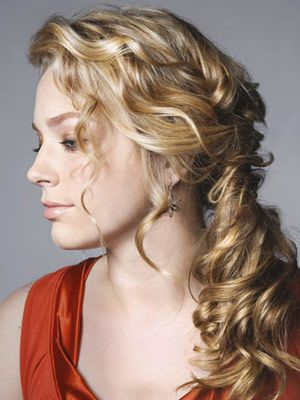 Pretty updo for curly hair!
