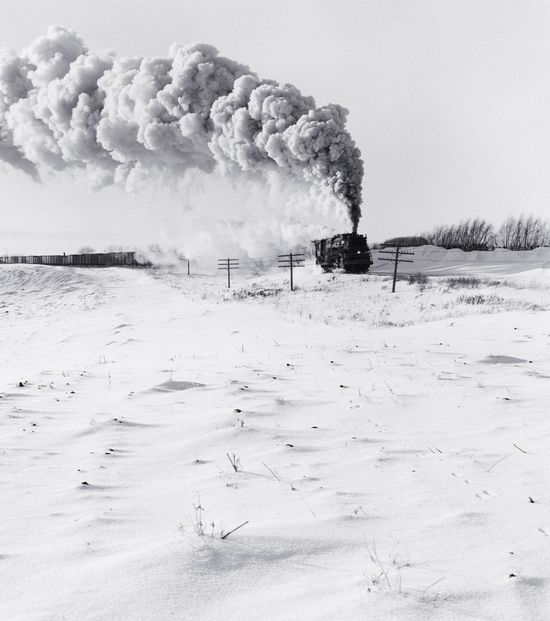 Great Northern Railway Extra 3387 East    photo by David Plowden; Near Delano, Minnesota, 1956