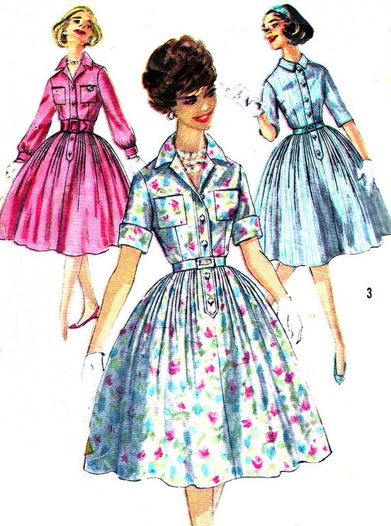 1950s Dress Pattern Simplicity 3039 1950s by paneenjerez on Etsy, $12.00