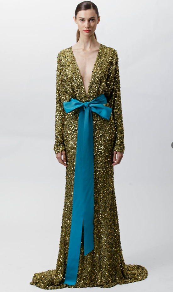 Badgley Mischka 2012 Resort. Green and blue never looked so dreamy