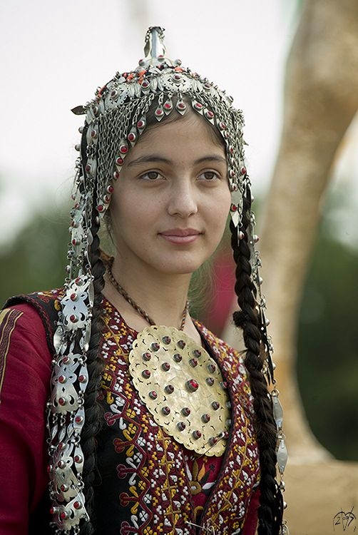 Traditional Turkmen Girl  by Manfred Vaeth