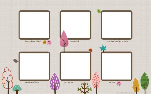 desktop wallpaper organization