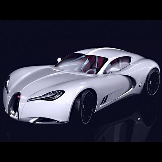 Bugatti Gangloff Concept inspired by Type 57 Atalante.