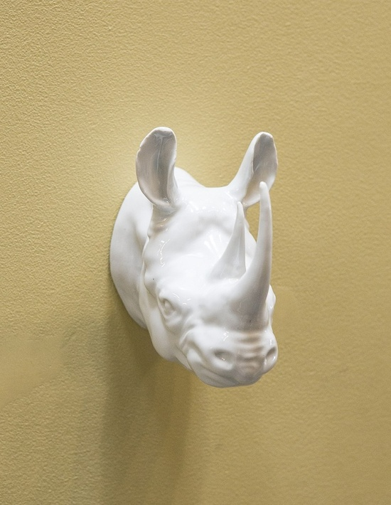 White Porcelain Rhino Trophy Head Courtesy of InStyle-Decor.com Beverly Hills Inspiring & Supporting Hollywood interior design professionals and fans, sharing beautiful Luxe Home Decor Inspirations, Designer Furniture, Table Lamps, Mirrors & Decorative Accents. Trending 1st in Hollywood, Your Welcome To: Repin, Share & Enjoy