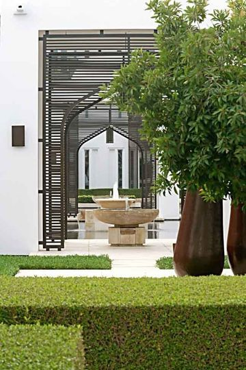 Beautiful garden entry